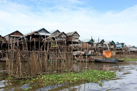Cambodge - Tonle Sap - Village flottant